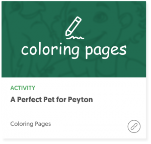 Book Cover: A Perfect Pet for Peyton Coloring Pages